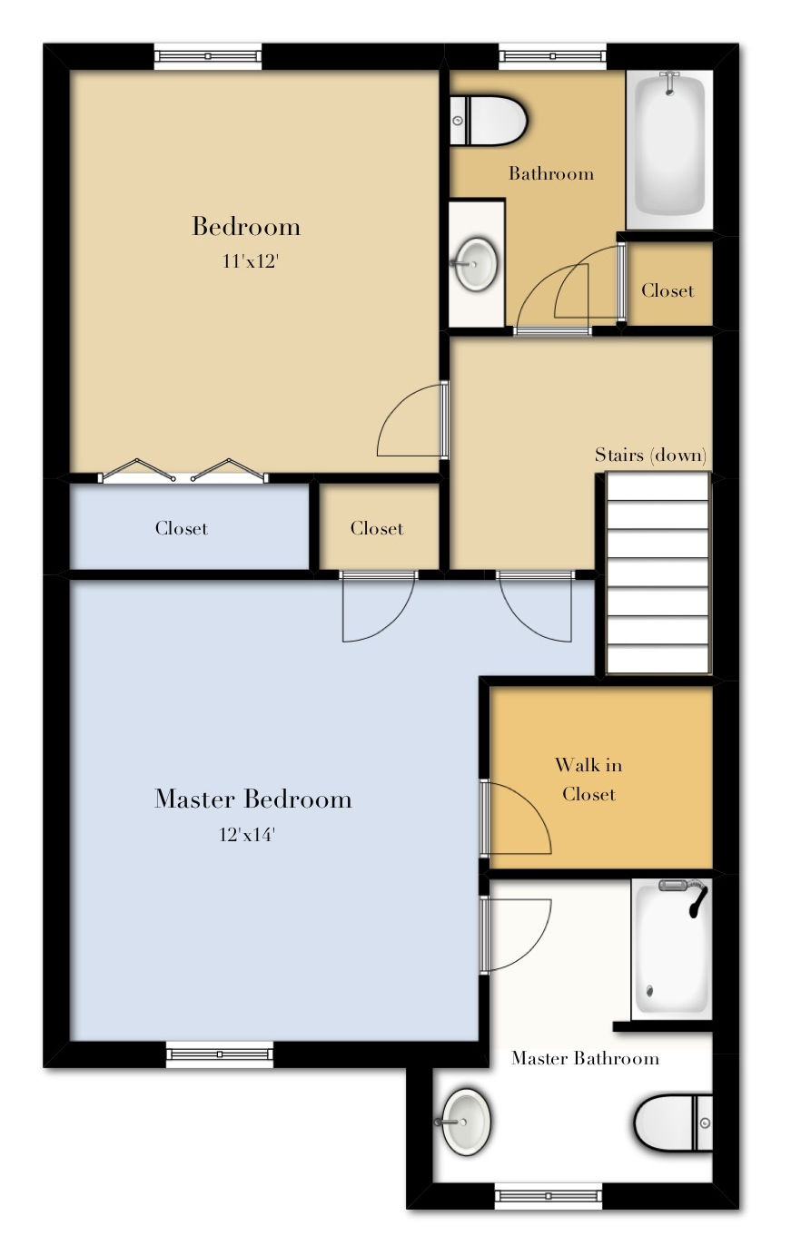 2 Bedroom First Floor