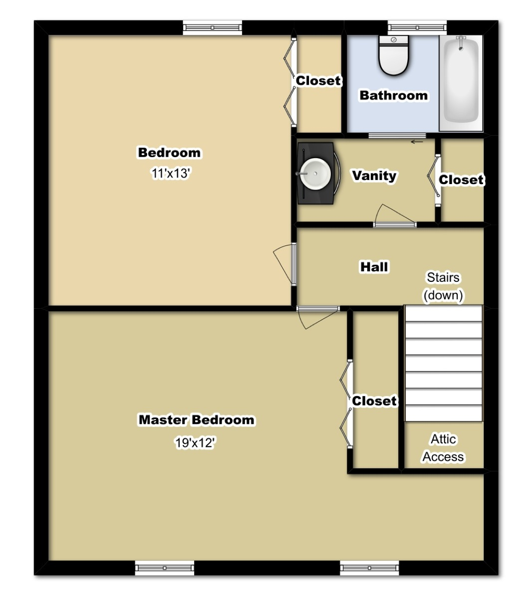 2 Bedroom Second Floor